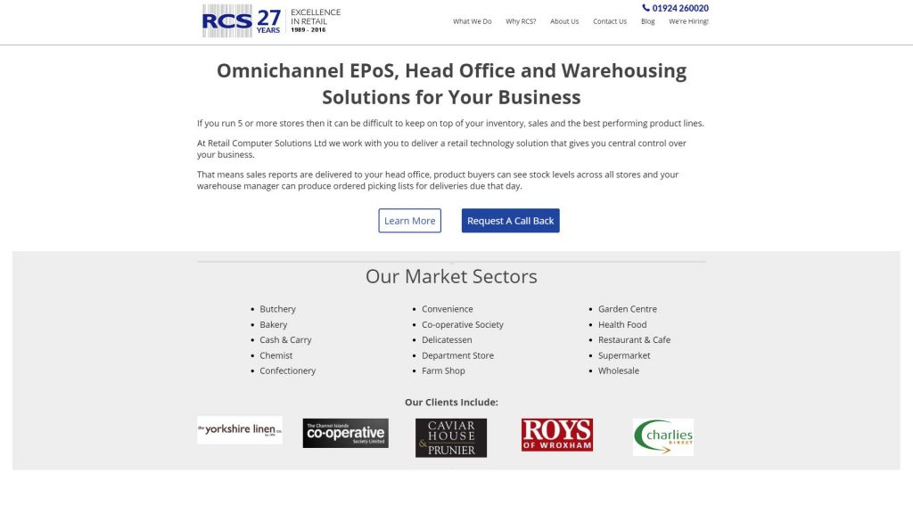 Picture of Retail Computer Solutions homepage